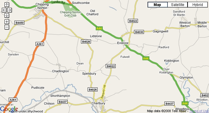 Charlbury area road map